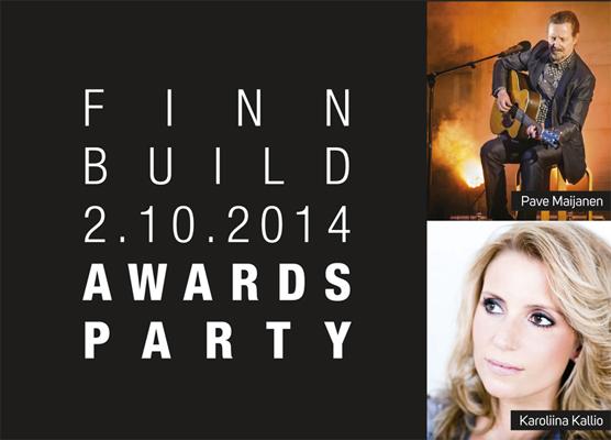 FinnBuild Awards Partyssa palkittiin rakennusalan parhaat